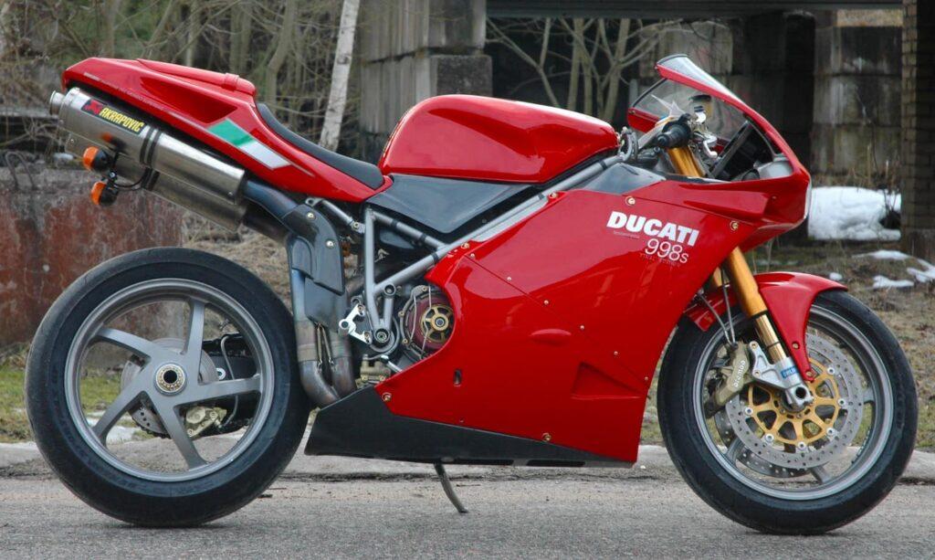 red ducati superbike 998s
