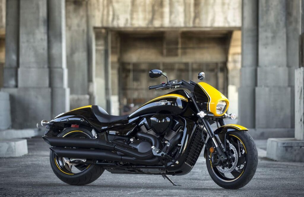 Yellow and black Suzuki M109R B.O.S.S.