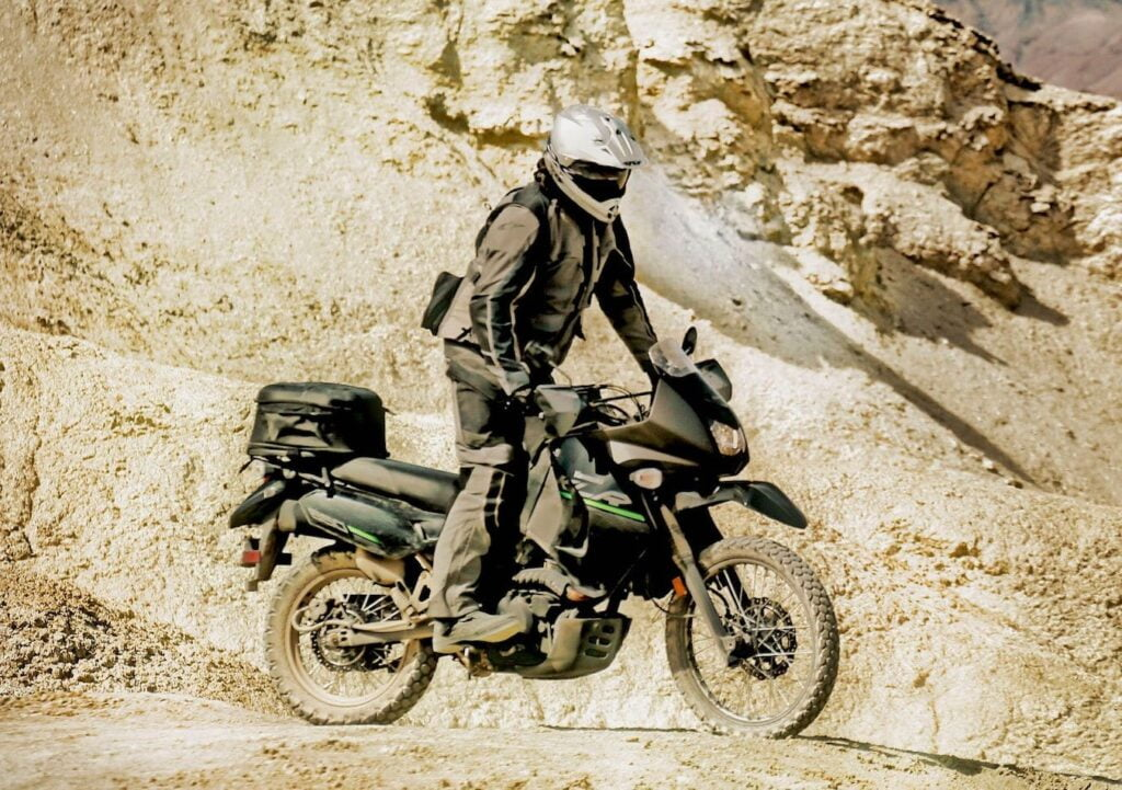The Kawasaki KLR650, an apocalypse motorcycle that could survive any adventure