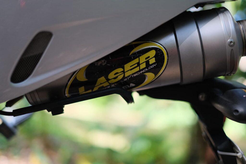 BMW R1200S Laser exhaust