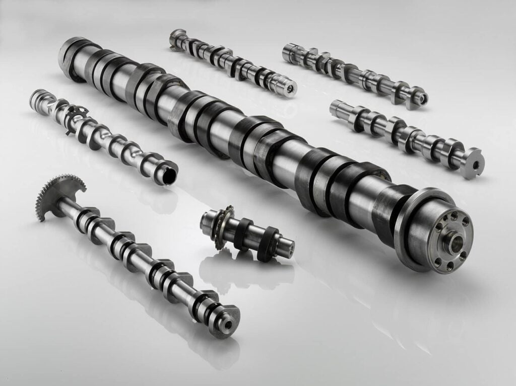 Collection of motorcycle camshafts