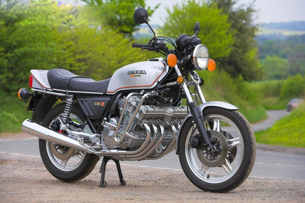 Honda CBX side view - a six-cylinder standard motorcycle