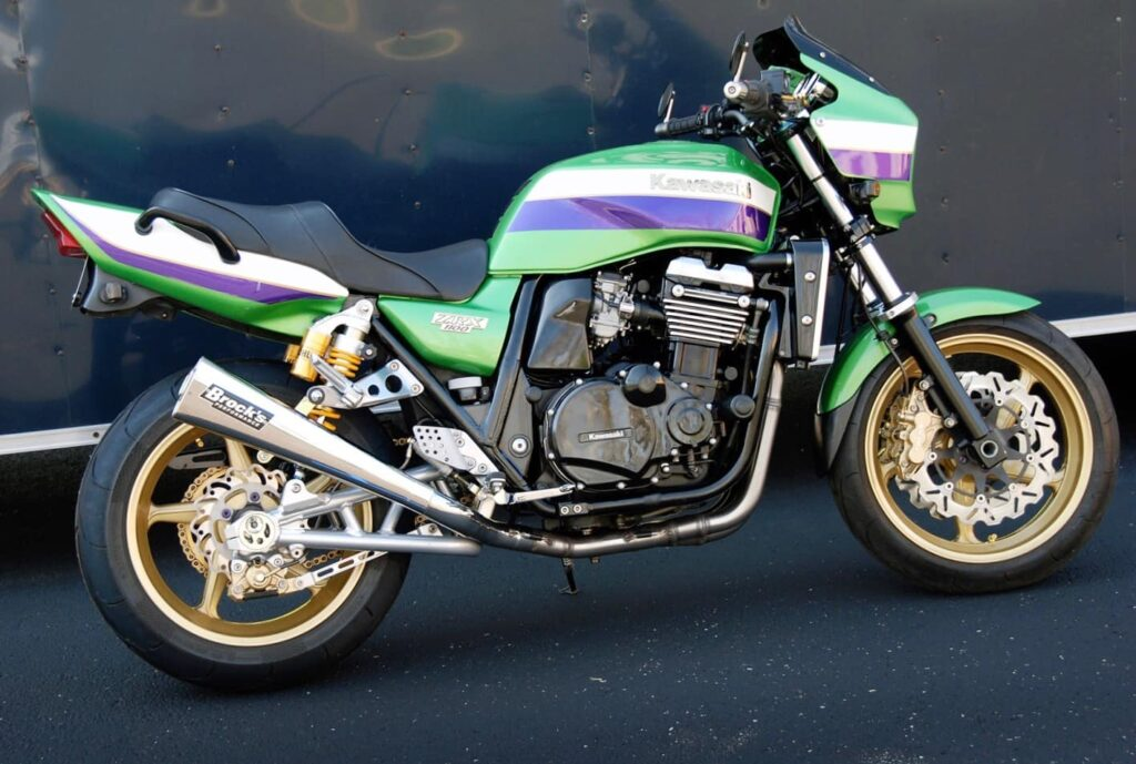 Second Eddie Lawson Replica, the ZRX1100, with a Brock's exhaust