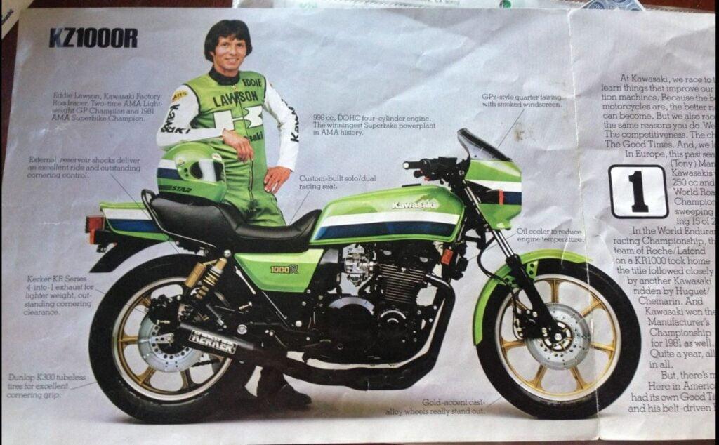 The original Kawasaki Eddie Lawson Replica, the KZ1000R