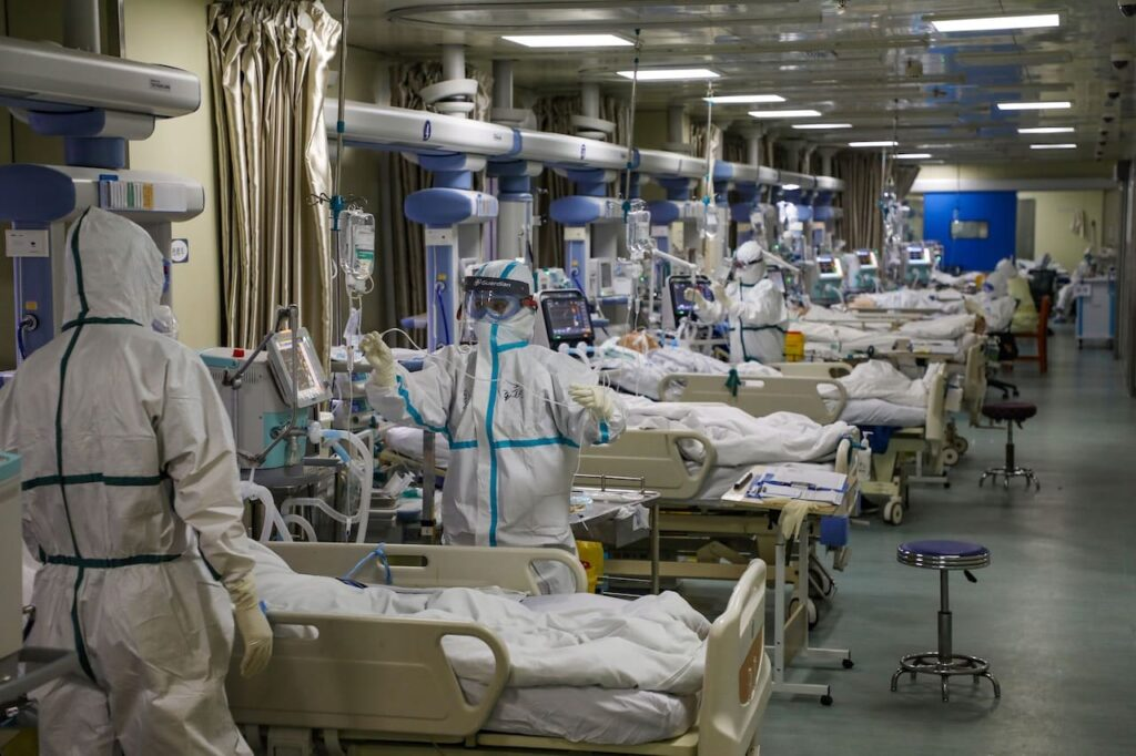 ICU ward in hospital during the COVID-19 pandemic