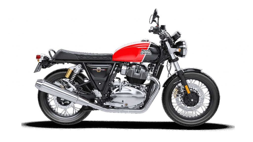 Royal Enfield Interceptor 650 — parallel twin 650cc with a 270-degree crank