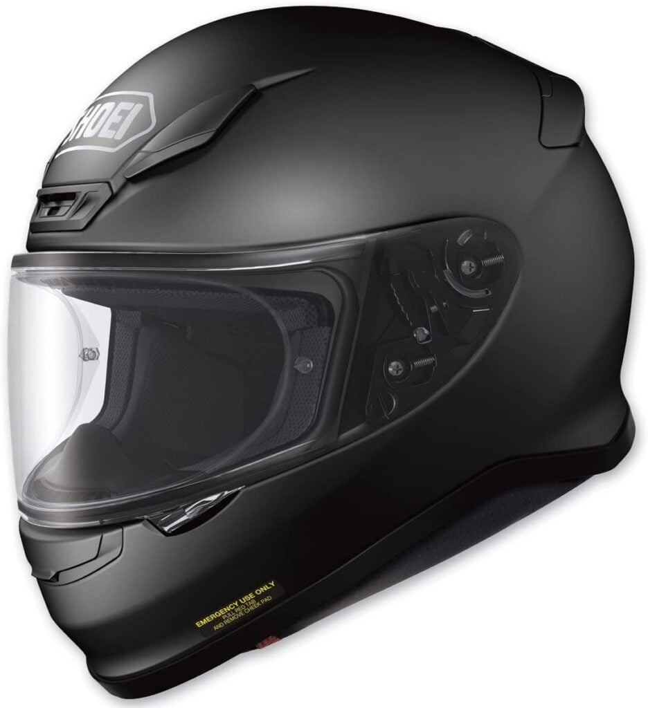 Black Shoei RF-1200 from Amazon, for review purposes as part of shoei rf-1200 review