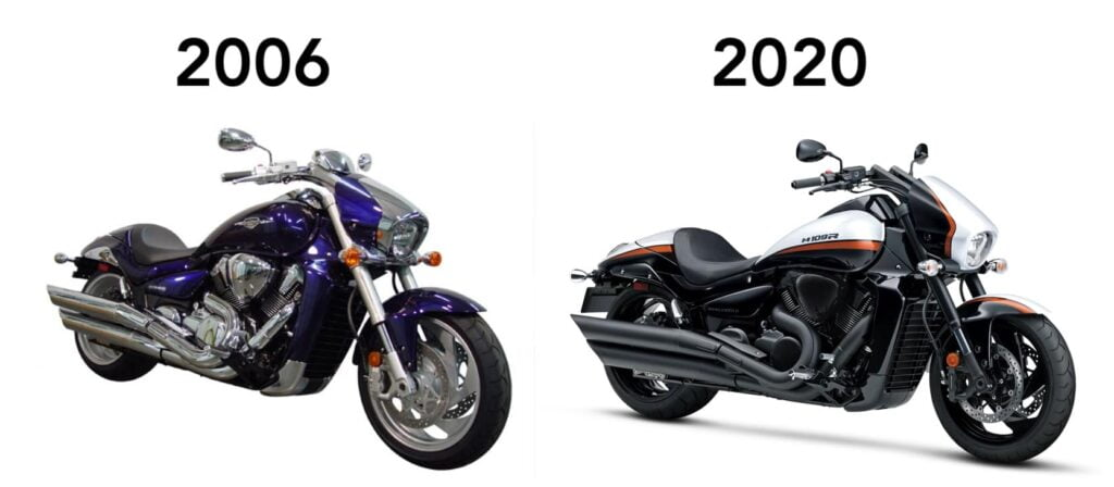 Suzuki M109R evolution and model history