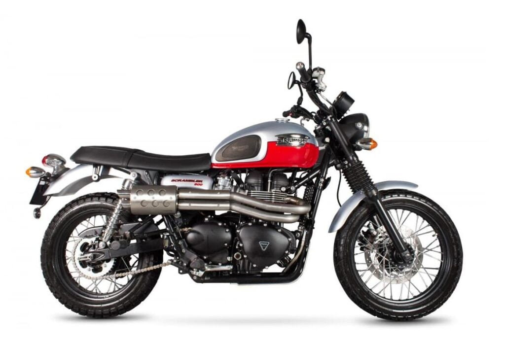 Affordable classic motorcycle Triumph Scrambler with Zard exhaust