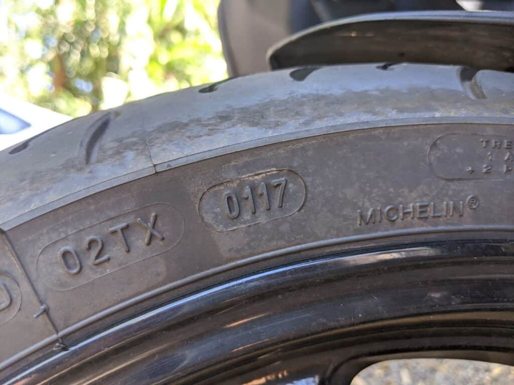 used motorcycle tire date codes