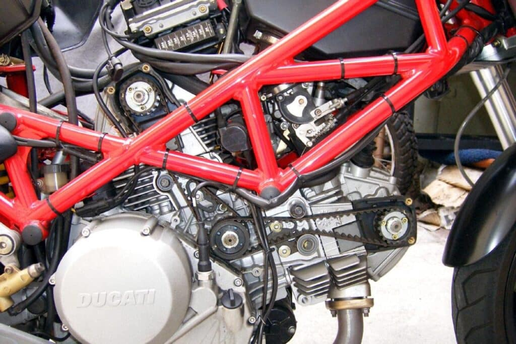 belts on a Ducati Monster that may be due for service