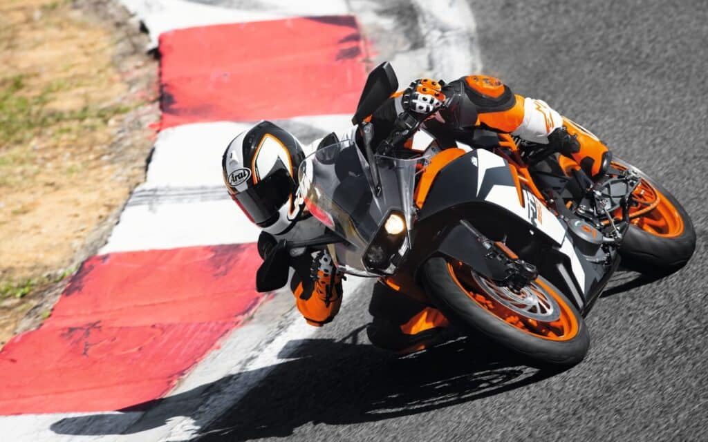 KTM RC390 at the track
