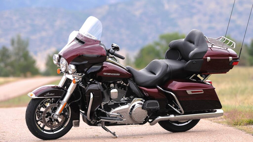 Riding a huge harley davidson is probably not great exercise.