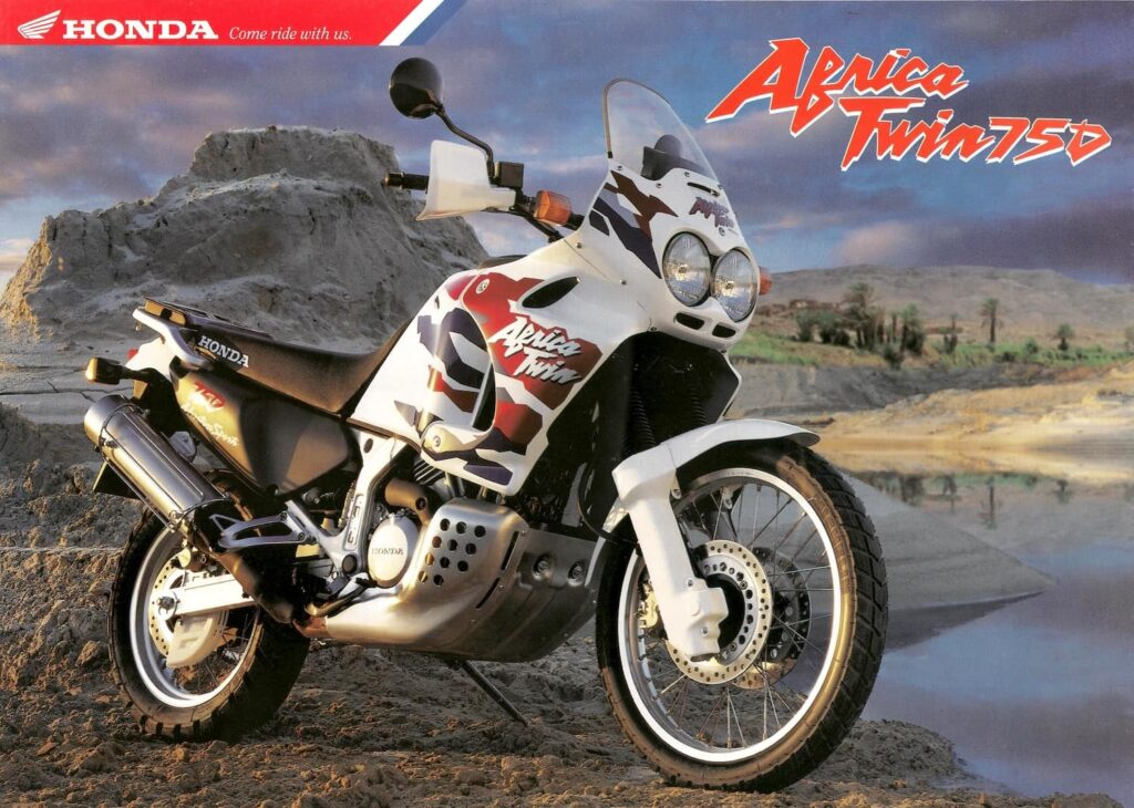 The original Honda Africa twin - photo from brochure