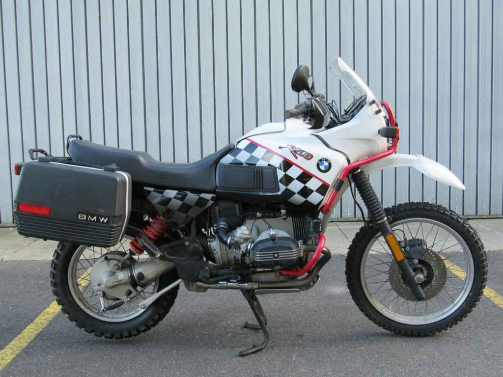 1992 BMW R100GS with side-cases - one of the last airheads.