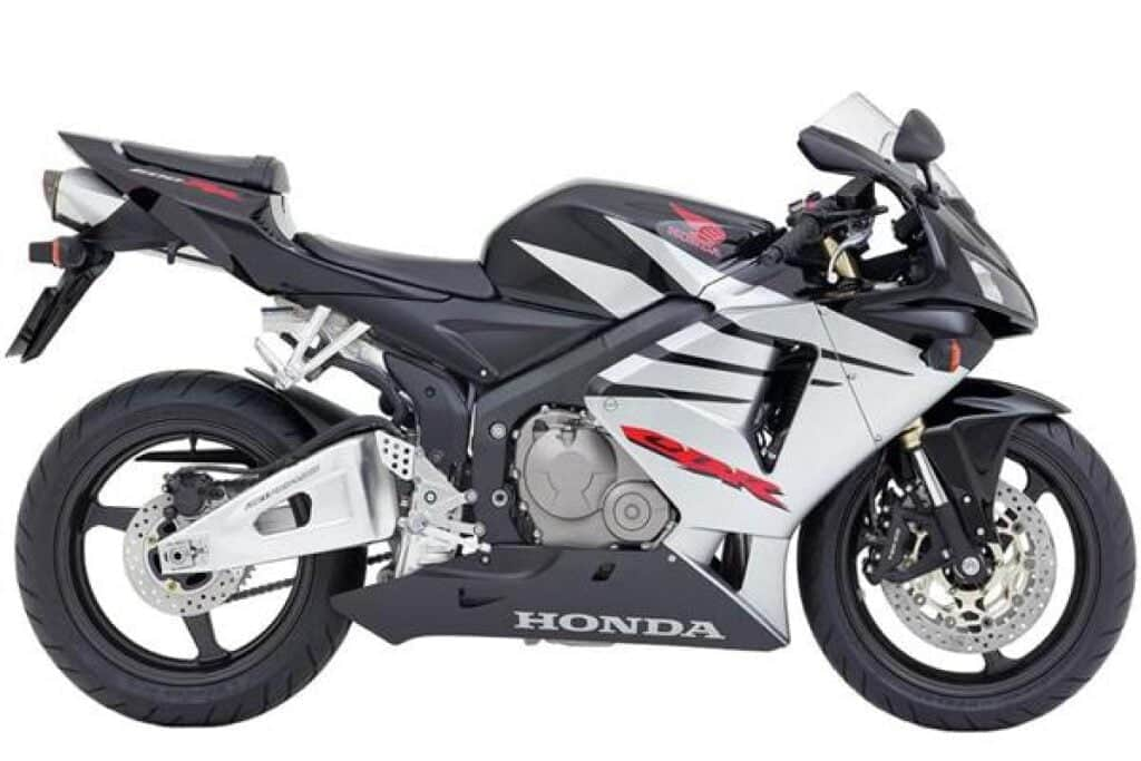 2005 Black and Silver Honda CBR600RR