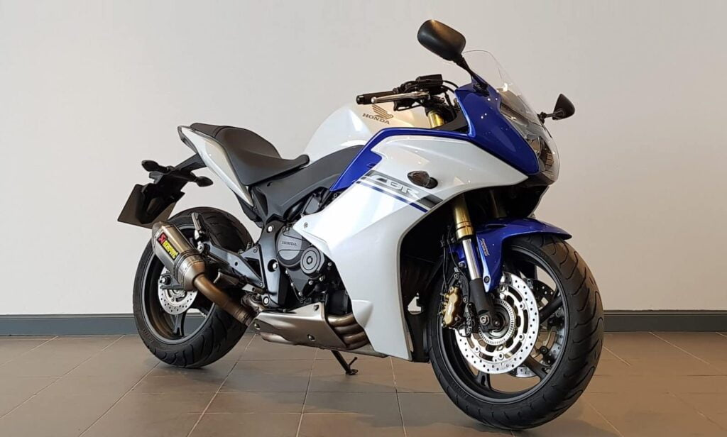 2012 Honda CBR600F blue and white