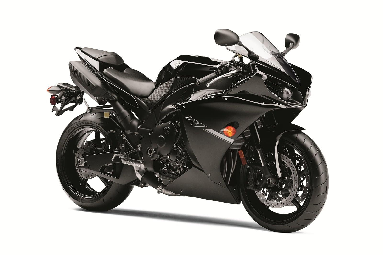 black yamaha r1 2012 on track with traction control