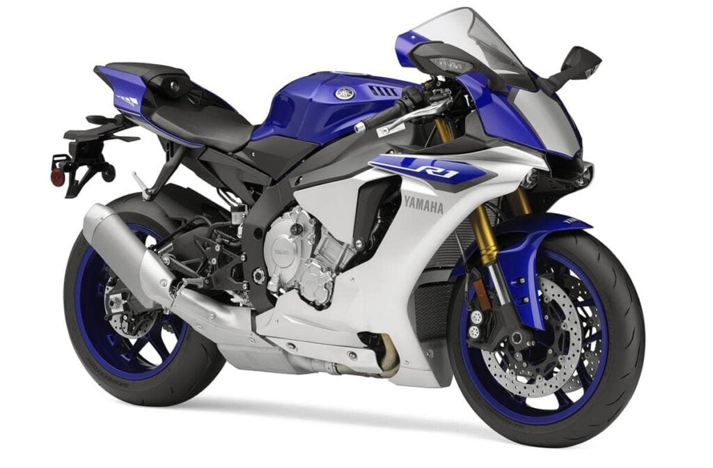 2015 yamaha r1 blue and white