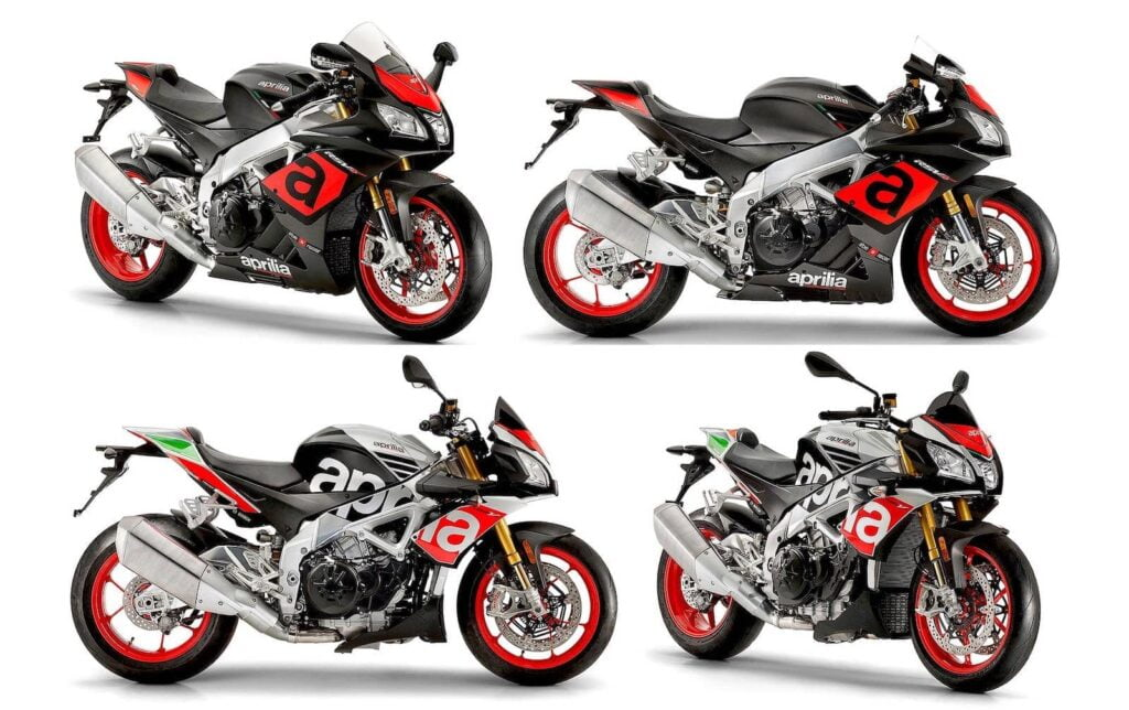 Aprilia Tuono V4 and RSV4 motorcycles with Cruise Control