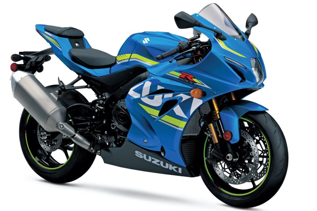 Suzuki GSX-R 1000 with front-stacked headlights like the Ducati 999