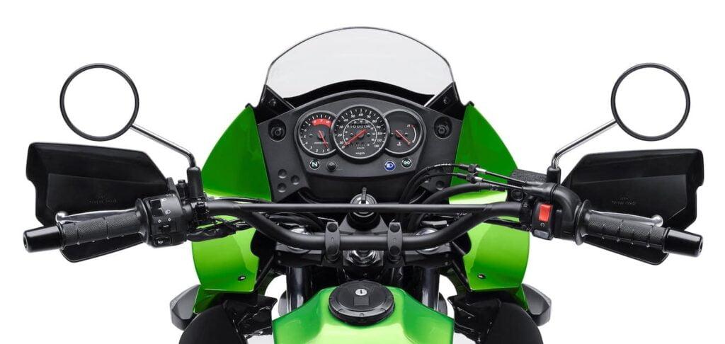 Dash and Cockpit of the Kawasaki KLR650