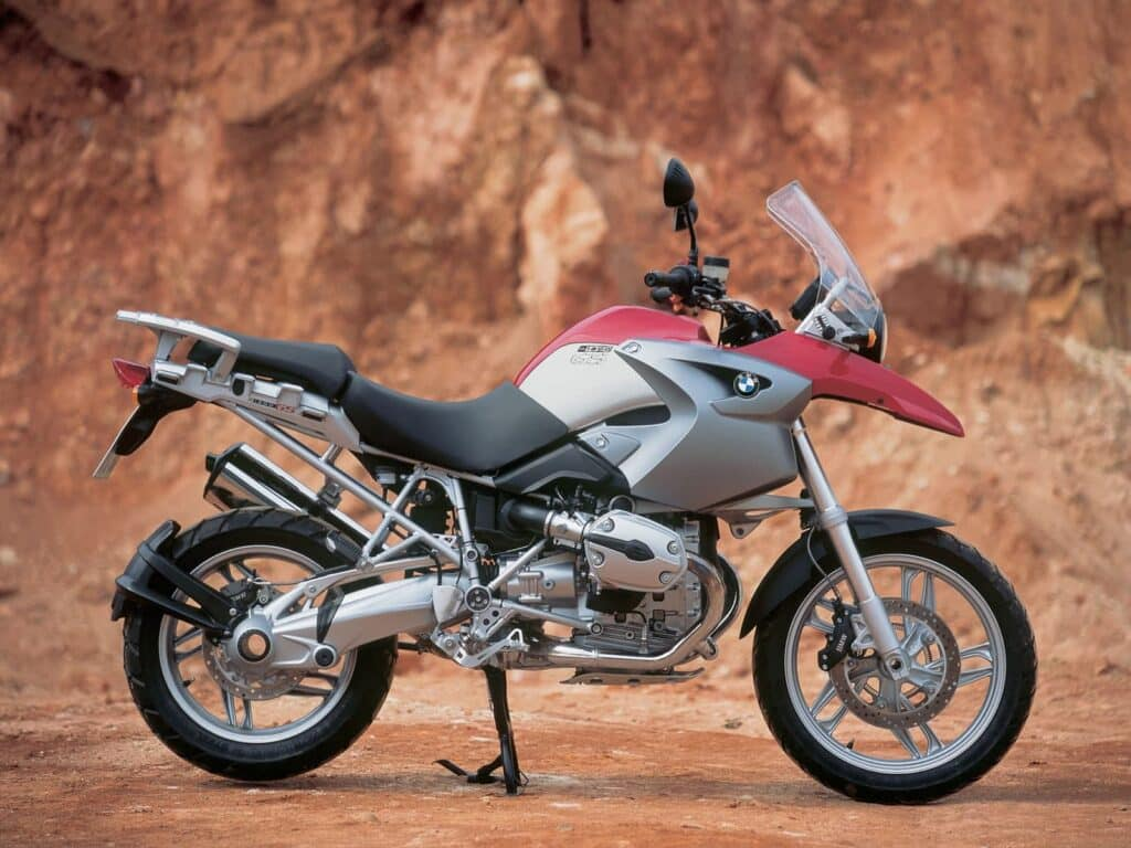 The BMW R1200GS, one of the first hexhead BMW motorcycle engines