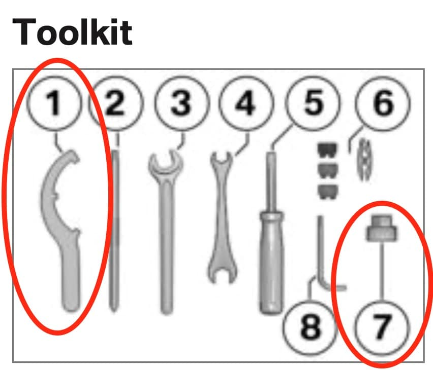 BMW S1000R Manual - toolkit for S1000R S1000RR