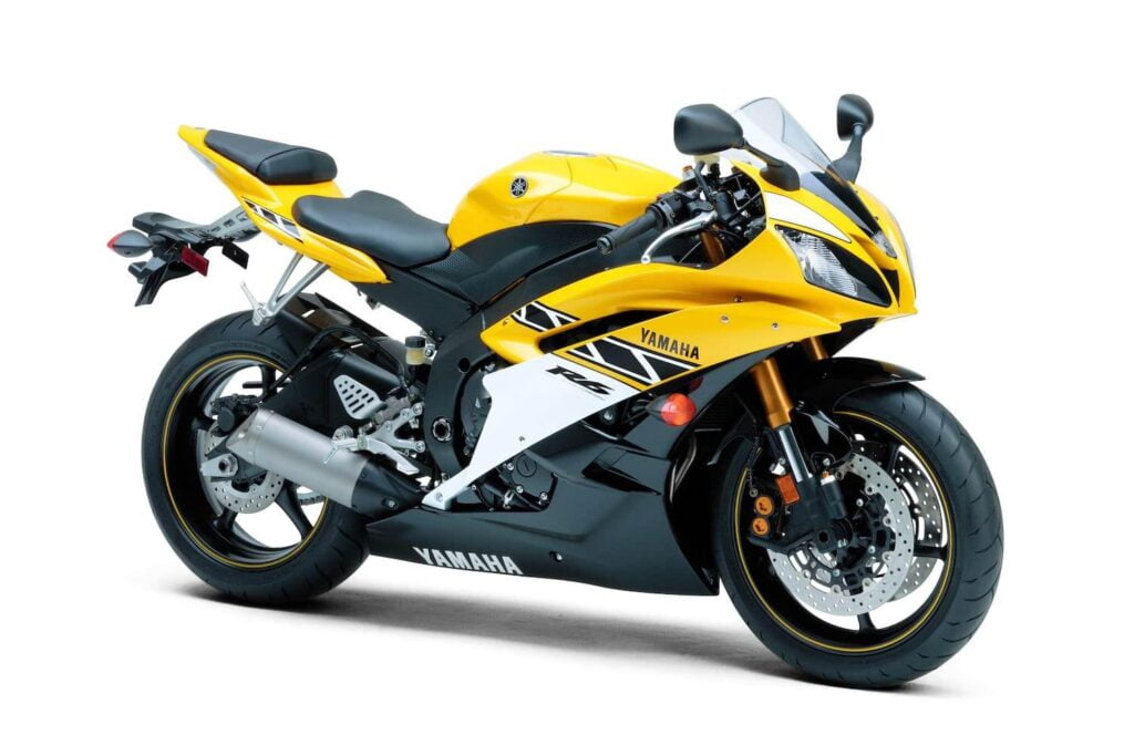 Anniversary edition Yamaha R6 2006 in yellow and black - first street bike with ride by wire