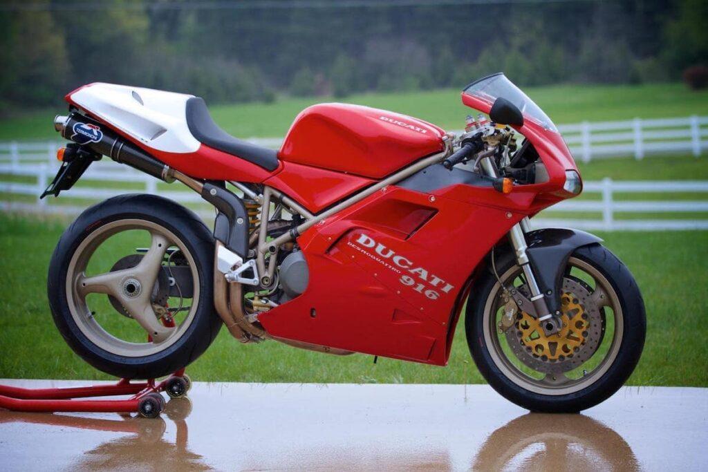 A Ducati 916 SPA, AKA 955cc engine - very limited edition Ducati superbike