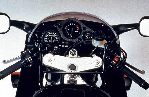 Cockpit of the original Honda CBR900RR FireBlade