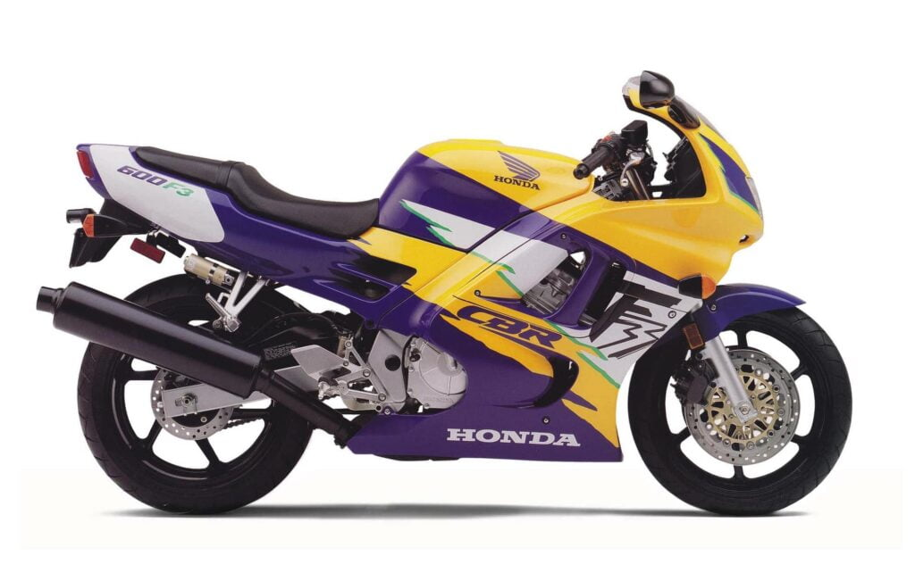 Smokin Joe's purple and yellow CBR600F3