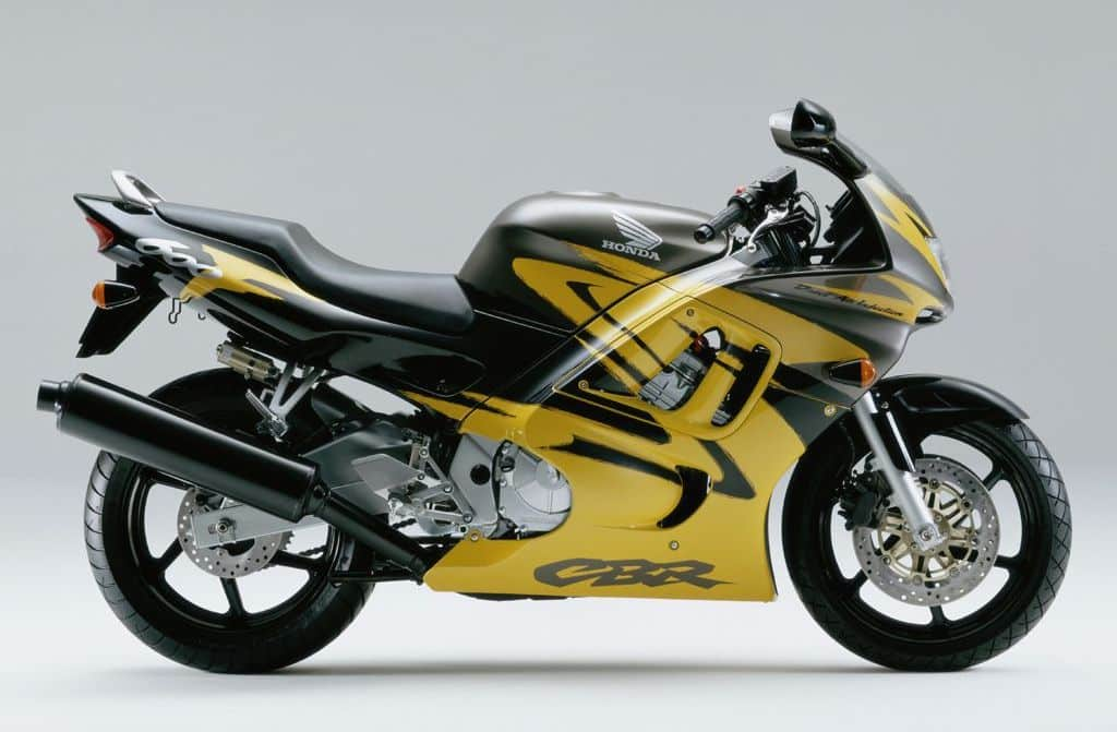 yellow and black Honda CBR600F3