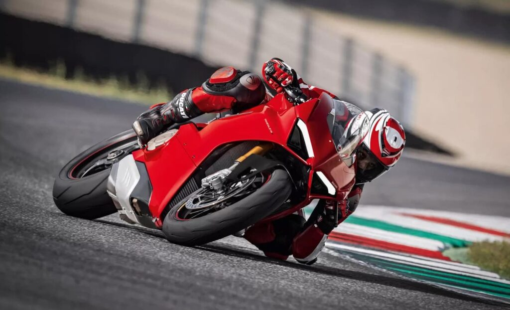 The IMU or Cornering ABS is a feature on most Ducati motorcycles, like this Panigale V4