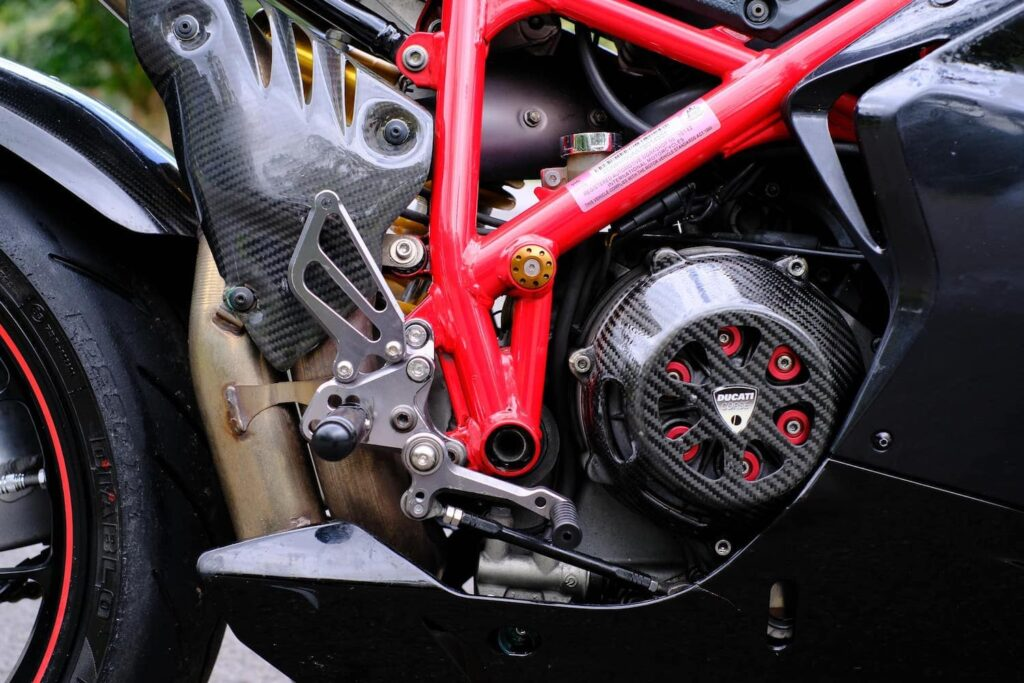Ducati 1098 open clutch cover and aftermarket springs