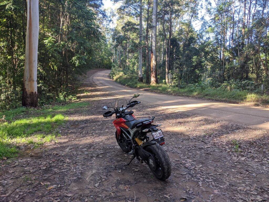 Ducati Hyperstrada 821 Review - dirt road