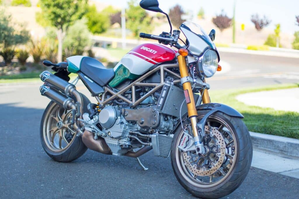 2008 model Ducati monster S4 Tricolore - one of the most popular Monster models