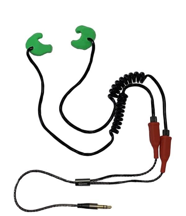 Earmold earplugs with custom-moulded earphones