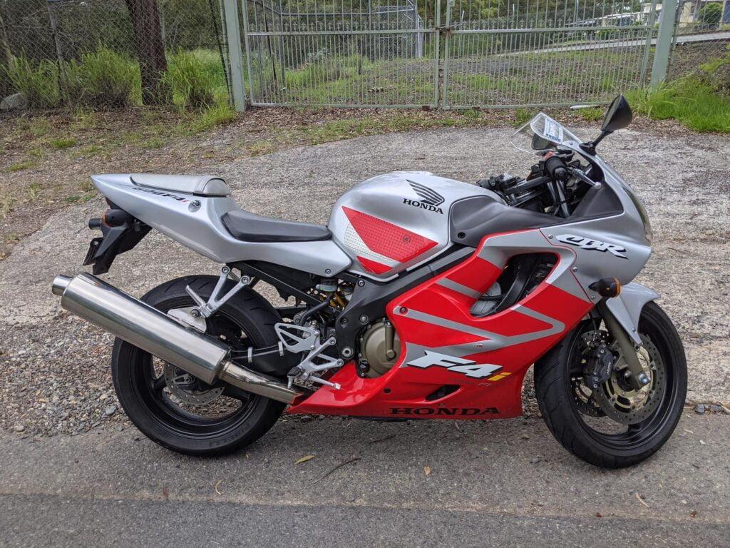 Red and Silver Honda CBR600F4i