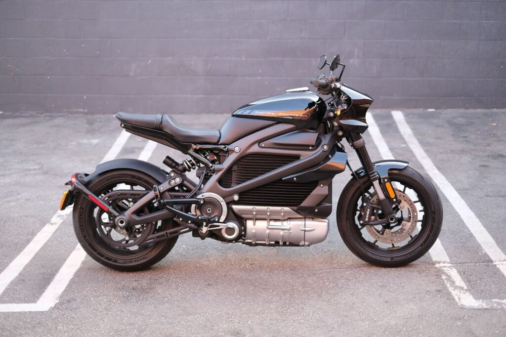 Harley-Davidson LiveWire — An electric motorcycle with cornering ABS