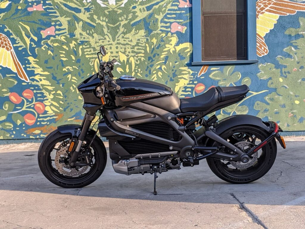 The Harley-Davidson LiveWire electric motorcycle from Harley