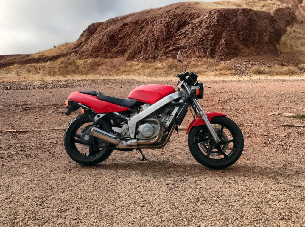 Honda Hawk GT NT650 review - inspiring the later Ducati Monster with its single-sided swingarm and simple naked frame