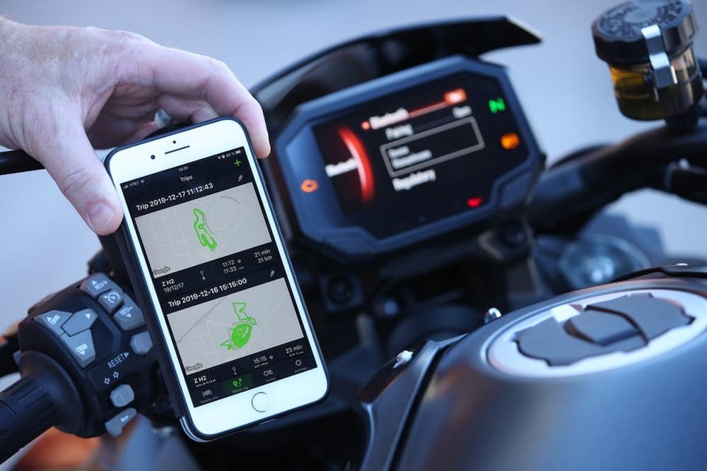 Kawasaki rideology app image - available on H2 motorcycles