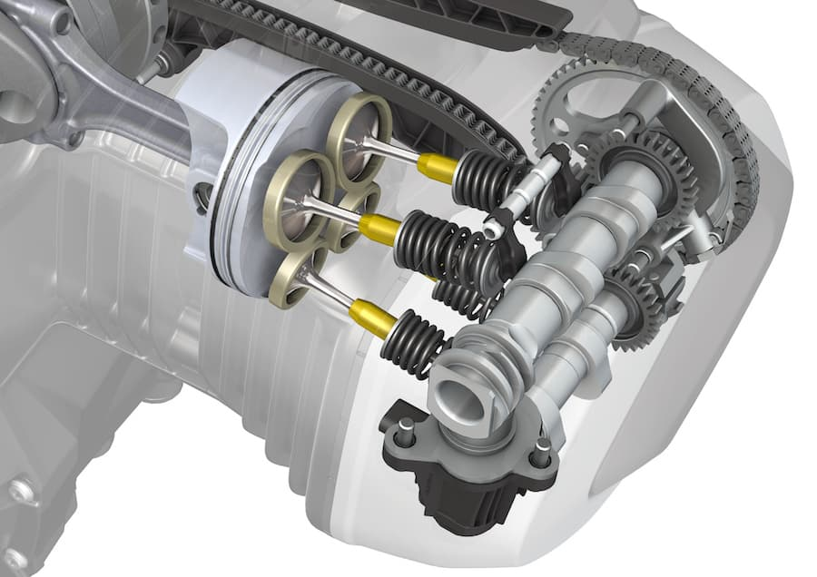 BMW ShiftCam engine exploded view