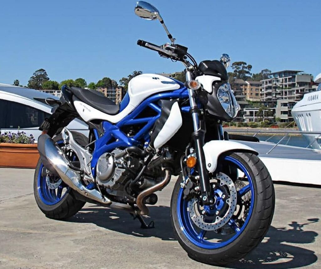 A Suzuki SFV650 Gladius - a controversial successor to the SV650