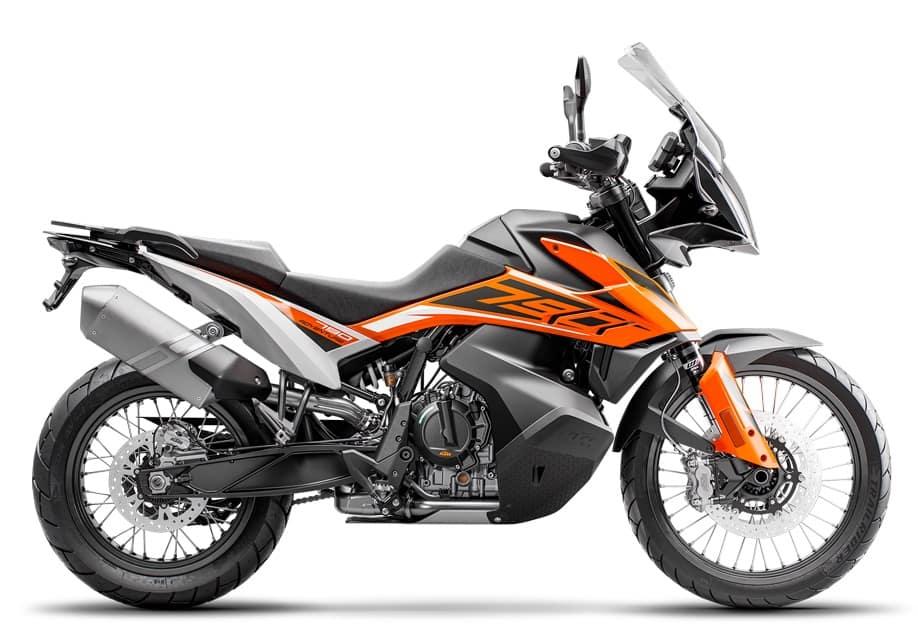 Yamaha Ténéré 700 vs KTM 790 Adventure - stock image
