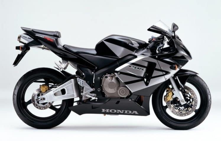 Silver and black 2003 cbr600rr