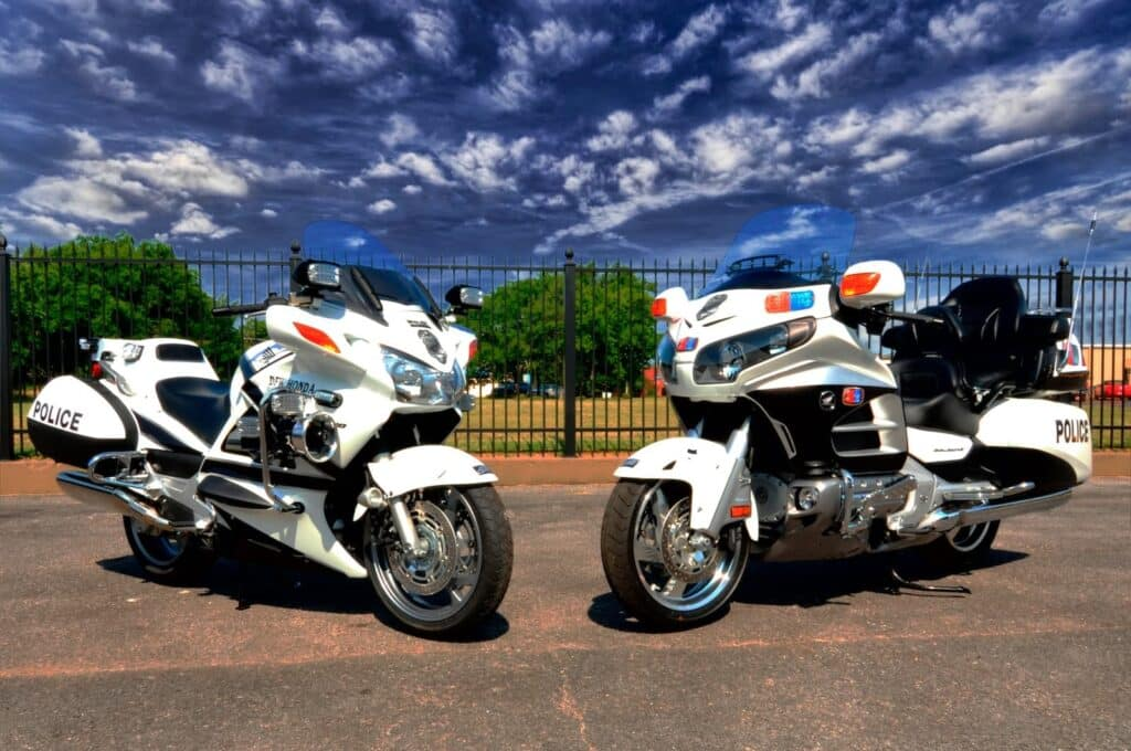 Honda ST1300 V4 motorcycles in police guise