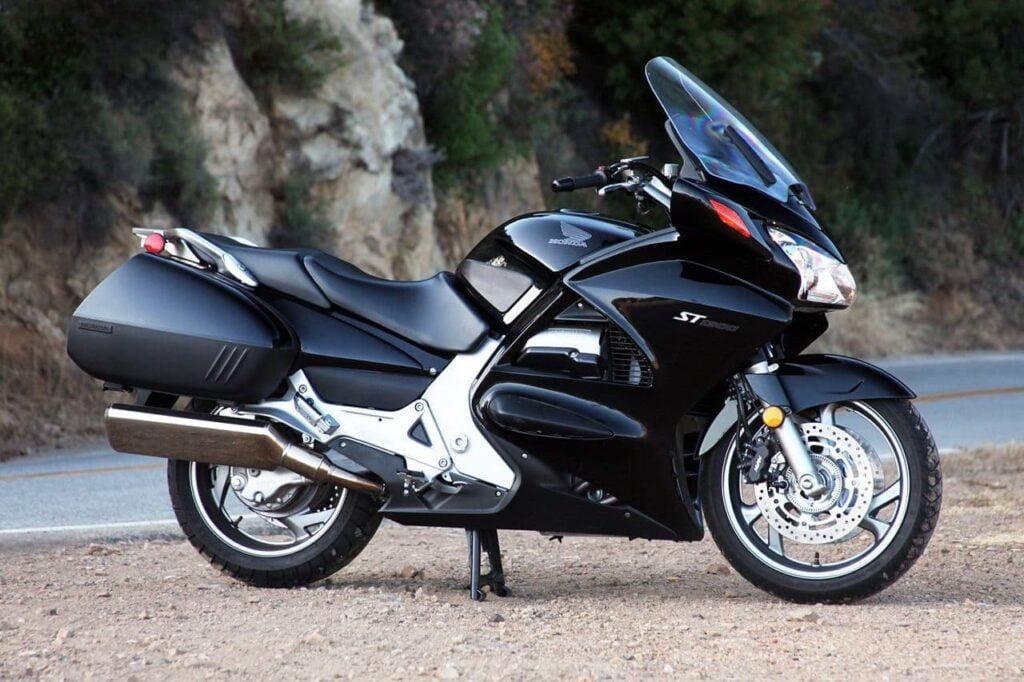 Black honda ST1300 V4 motorcycle