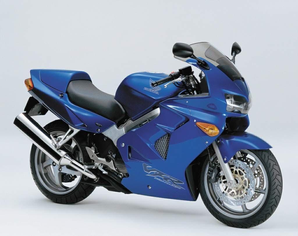 Blue 2001 Honda VFR800 5th Gen